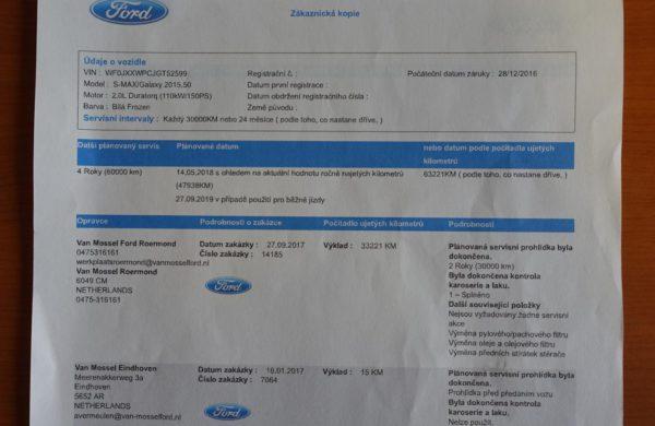 Ford S-MAX 2.0 TDCi 2017 CZ NAVIGACE, nabídka A168/18