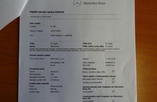 Mercedes-Benz Třídy B B 180 BlueEFFICIENCY AUTOMAT CZ NAVI, nabídka A176/20