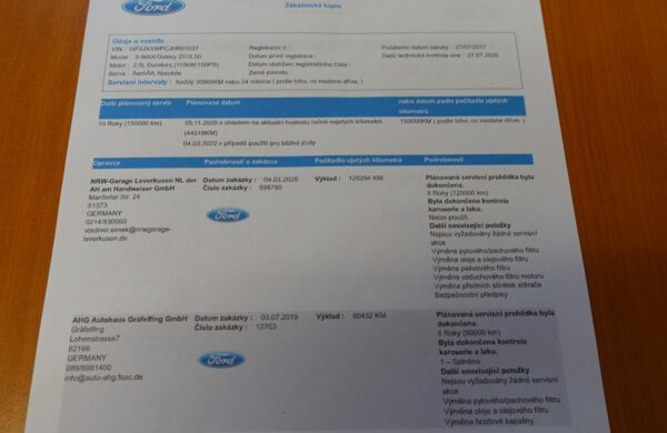 Ford S-MAX 2.0 TDCi Titanium NEZ. TOPENÍ, SYNC, nabídka A213/20