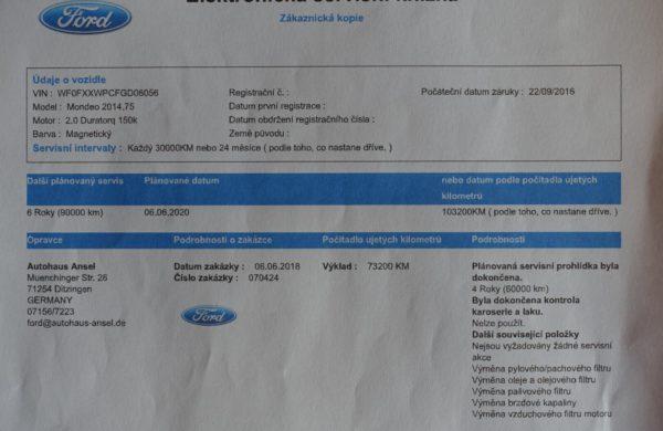 Ford Mondeo 2.0 TDCi MODEL 2016, CZ NAVIGACE, nabídka A39/19